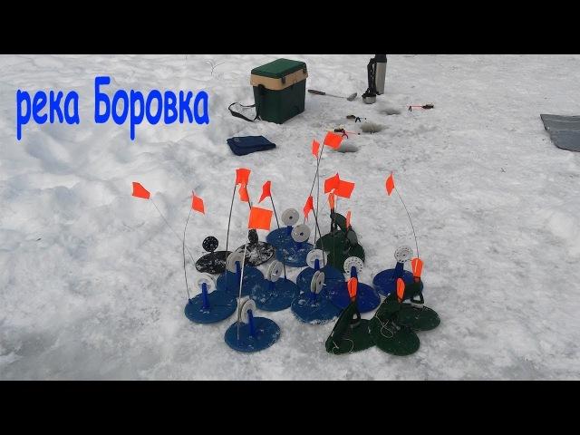Зимняя рыбалка на реке Боровка. Поймал налима, отпустил щуку.