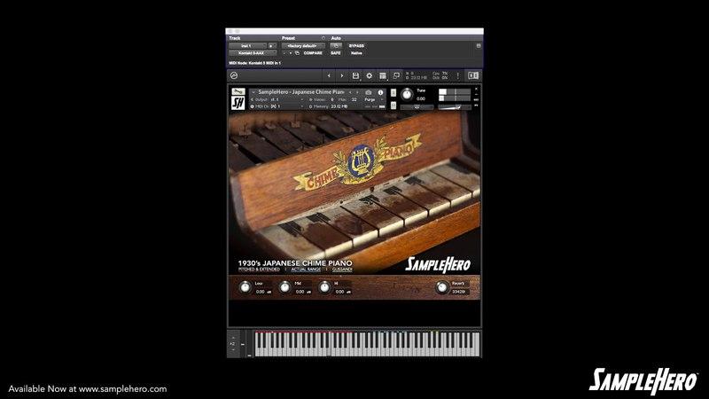 SampleHero - Japanese Chime Piano Demo