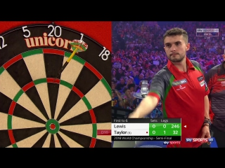 Jamie Lewis vs Phil Taylor (PDC World Darts Championship 2018 / Semi Final)