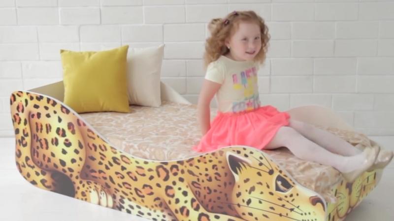 Обзорное видео о кроватке-зверенке