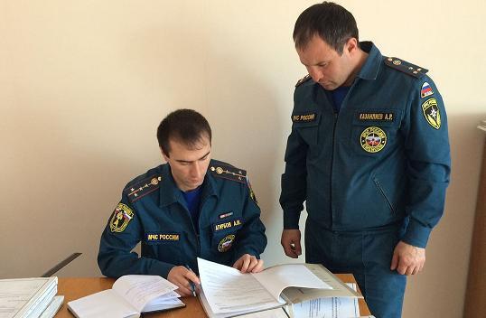 В Зеленчукском районе проверили отделение надзорной деятельности МЧС
