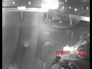 Момент столкновения иномарки с виадуком попал в объектив камеры наружного наблюдения vdk_dtp