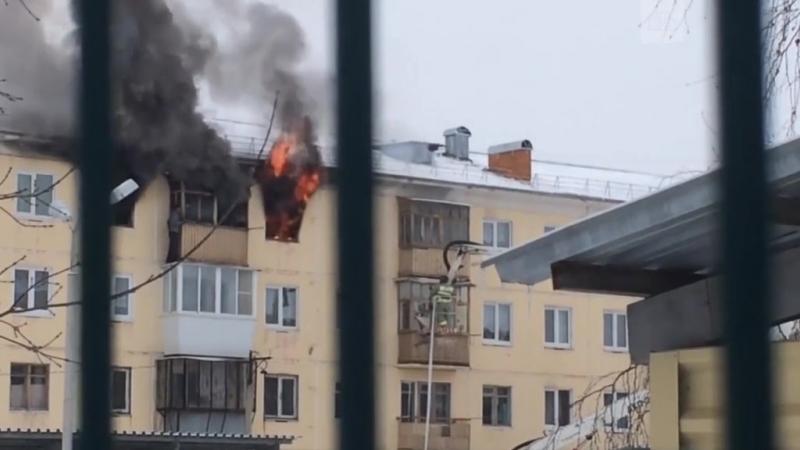 Рискованное спасение из пожара