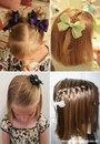 Причёски для девочек для средних волос