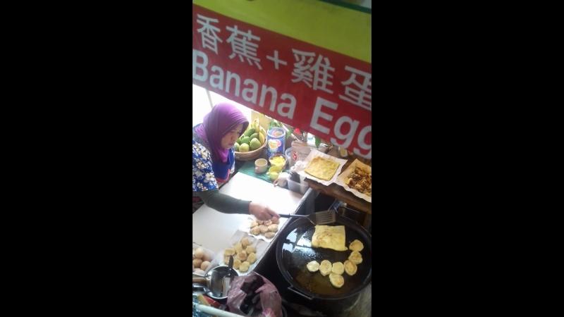 Патайя. банановая лепешка.2018