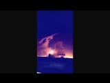A huge explosion in Riyadh, capital of Saudi Arabia