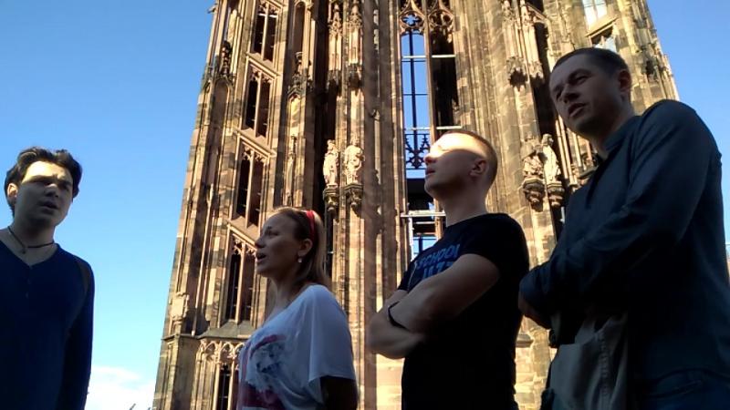 Благослови душе моя господа на высоте 333-ти ступеней на крыше централтного Страсбургского собора