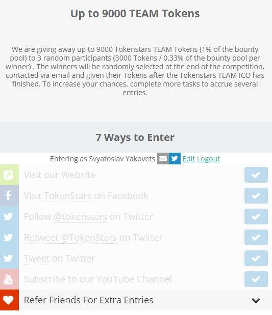 Обзор TokenStars ICO | Как получить токены бесплатно?