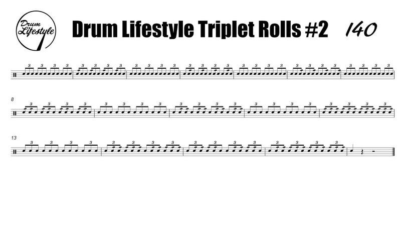 Triplet Rolls Exercise 2 Tempos 80100120140160180200