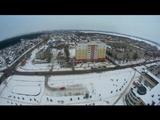 Павловск (зима весной). . съемка с высоты