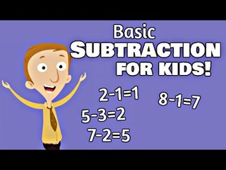 Basic Subtraction for Kids | Kindergarten and First Grade Math Lesson
