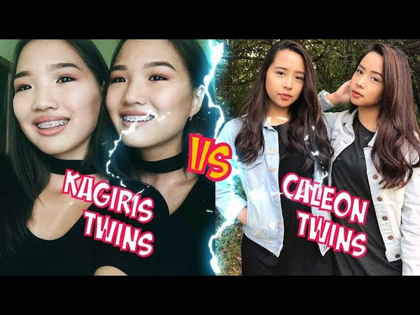 Kagiris Twins VS Caleon Twins l Battle Musers l Musical.ly Compilation
