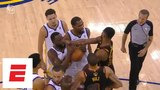 Tristan Thompson gets ejected, then gets into it with Draymond Green at end of Game 1 ESPN