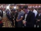На вечере Председатель ДУМК, Верховный муфтий Серикбай кажы Ораз дал своё благословение.
