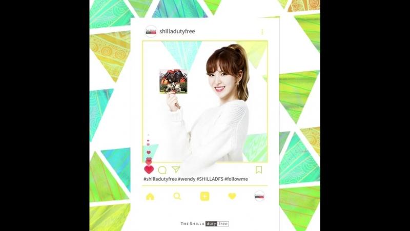 180117 Wendy (Red Velvet) @ shilladutyfree Instagram