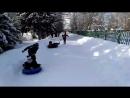 Гонки на ватрушках. Малые Олимпийские игры в Изваре. 2017-2018 учебный год.