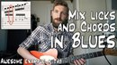 Mix BLUES Licks With Chords | 12 bar blues TABS