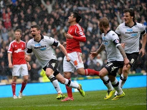Derby Vs Nottingham Forest 5-0 - All Goals Match Highlights - March 22 2014 - [High Quality]