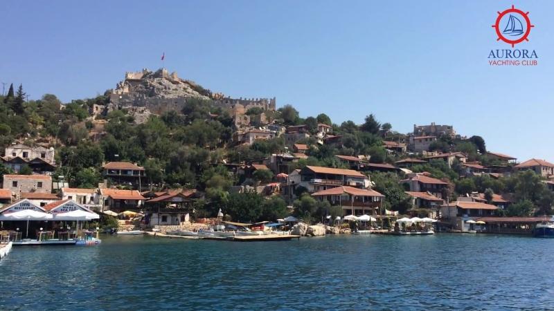 Круиз на яхте. Крепость Симена напротив затонувшего города Кекова
