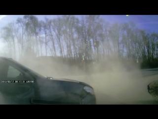 ДТП у ССК, видео из подбитой машины