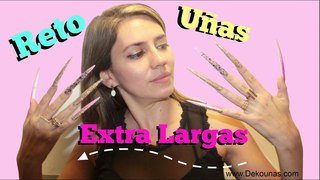 Reto Uñas Extra largas ft Laura Tagle - Extra long nails challenge