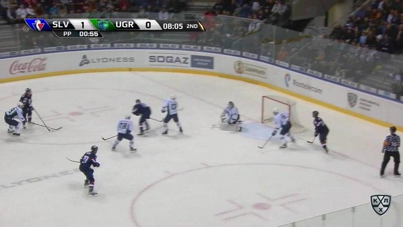 Моменты из матчей КХЛ сезона 17 18 • Гол 2 0 Джонатан Чичу Слован удвоил преимущество хозяев 15 01