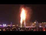 Елка сгорела в Южно-Сахалинске в новогоднюю ночь