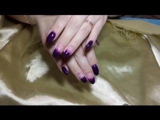 фиолетовые наращивание