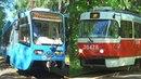 Встреча трамваев 71-619А (КТМ-19) №30272 Московский Транспорт и Tatra-t3 (МТТА) №30478