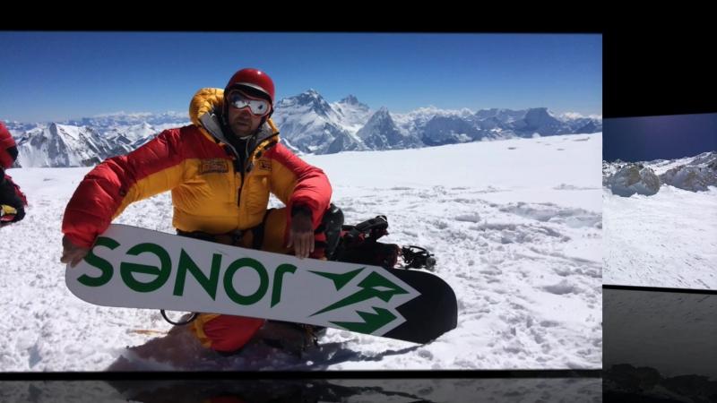 Чо ойю 8201м. восхождение и спуск на сноуборде. 06.10.14г.