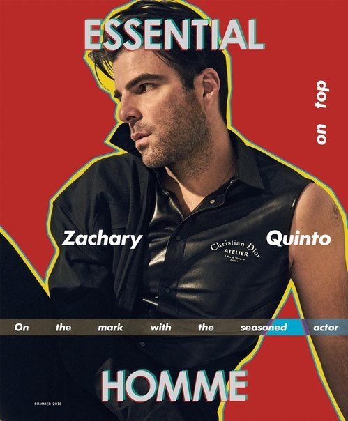 Закари Куинто стал героем летнего номера Essential Homme / 2018