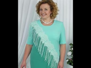 Платье Ninele: 2152 зеленый+светло-зеленый