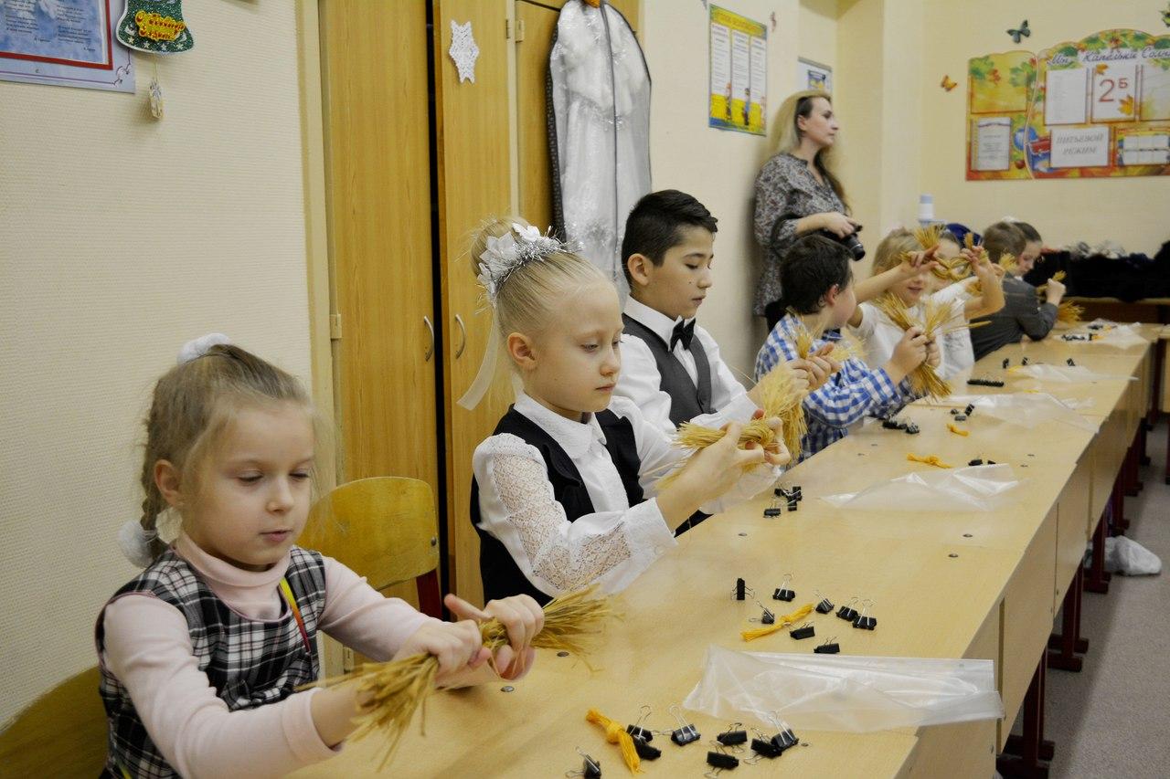 плетение рождественской звезды из лыко - шк. р. Перово