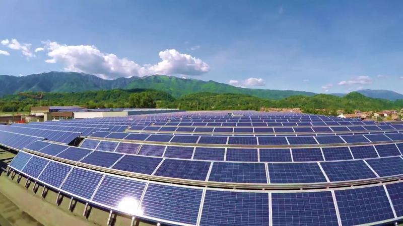 Солнечные панели на крыше фабрики Grisport
