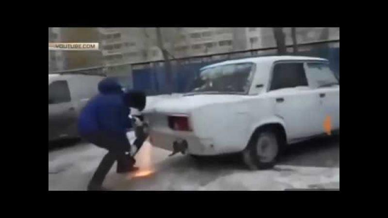 Москвич отрезал кусок жигулей чтобы припарковаться