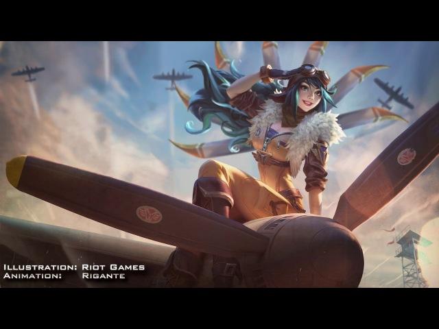 Aviator Irelia New Animated Splash Art! [ Fan Made ]