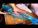 Japan Street Food - GIANT HUMPHEAD PARROTFISH Sashimi Okinawa Japanese
