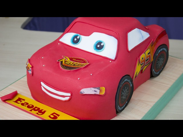 3д торт Молния Маквин из мф Тачки 3D cake, Lightning McQueen from Carscartoon Я - ТОРТодел