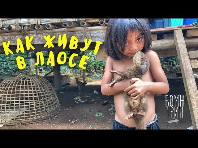 КАК ЖИВУТ ПРОСТЫЕ ЛЮДИ В ЛАОСЕ! Продолжение бомж-трипа, деревня в джунглях, настоящая Азия