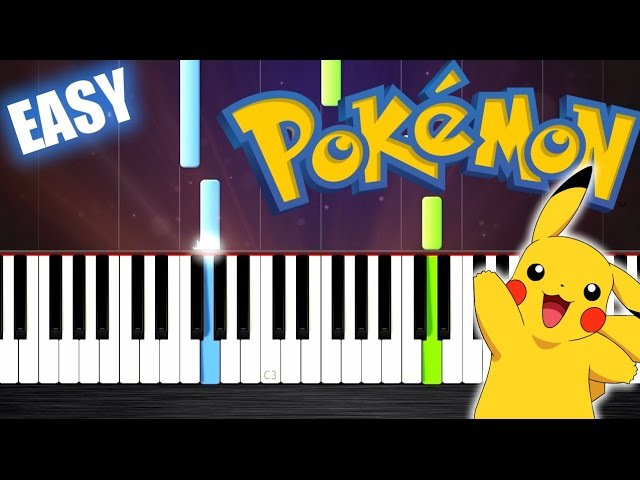 Pokemon Theme - EASY Piano Tutorial by PlutaX