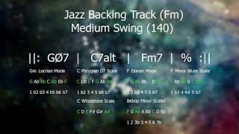 Medium Swing 140 Jazz Backing Track Fm