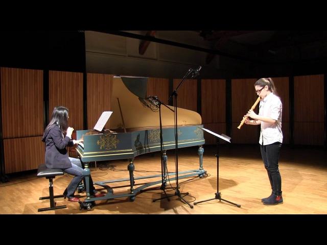 Telemann: Sonate C-Dur, 1. Satz, TWV 41: C5, Laura Schmid, Blockflöte, Eriko Wakita, Cembalo
