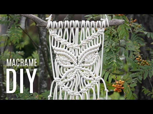 Macramé Wall Hanging Butterfly Tutorial by Macrame School