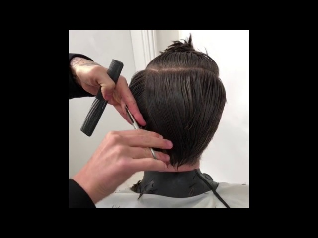 Men's mid length haircut tutorial inside Menspire academy