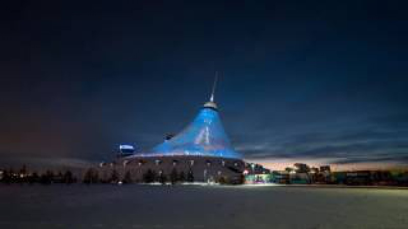 Astana In Winter time lapse 4K