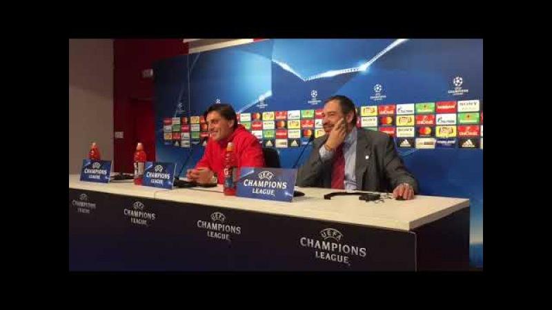 Sevilla-Manchester: Montella, el Ejemplo del Partido contra el Atlético y el Himno del Sevilla