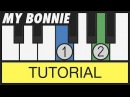 My Bonnie Lies over the Ocean Very Easy Piano Tutorial