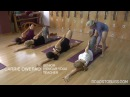 Anantasana with vrksasana final pose with Carrie Owerko Senior Intermediate Iyengar Yoga Teacher