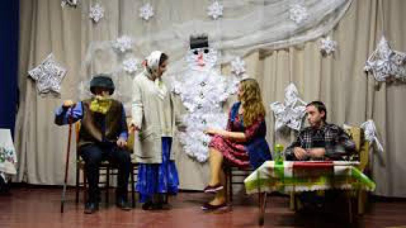 Новорічний вечір у Піщанській школі 2018 Сценка 9 класу