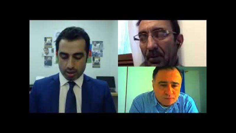 Qənimət Zahid və keçmiş konsul Arif Məmmədov seçkiləri müzakirə edir..